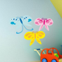 Stickers papillons par 3