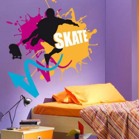 stickers skate pop ado stickers malin. Black Bedroom Furniture Sets. Home Design Ideas