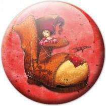 Badge enfant fee botte (Laure phélipon)
