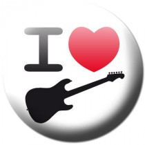 Badge I love guitare