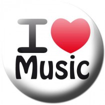 Badge I love music