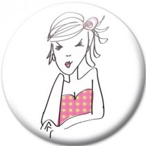 Badge personnage miss lolita