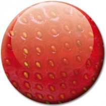 Badge nature fraise