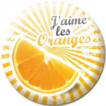 Badge nature orange