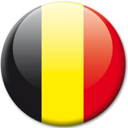 Badge drapeau belgique stickers malin for Miroir sur mesure belgique