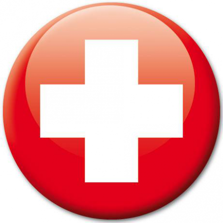 Badge Drapeau Suisse Stickers Malin