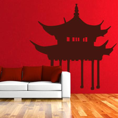 Stickers chinois temple with stickers chinois pas cher for Carpe chinoise prix