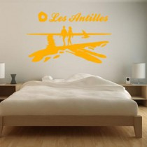 Stickers Dom Tom coucher de soleil Antilles