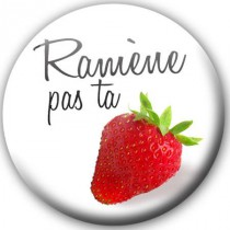 Badge Fun Fraise