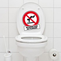 Stickers WC interdiction de plonger
