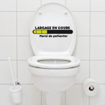 Stickers WC largage en cours