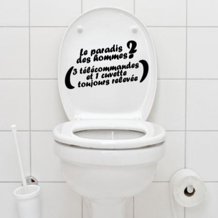 stickers wc paradis des hommes stickers malin. Black Bedroom Furniture Sets. Home Design Ideas