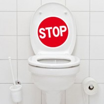 Stickers WC Stop