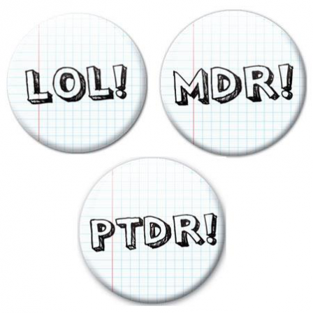 Badge Fun Lot de 3