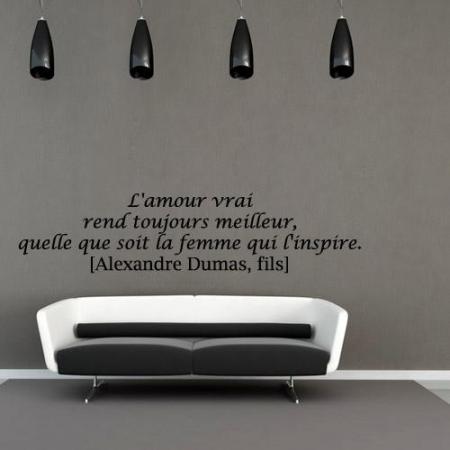 stickers citation l 39 amour vrai stickers malin. Black Bedroom Furniture Sets. Home Design Ideas