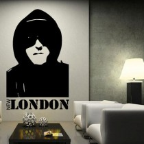 Stickers personnage silhouette new london