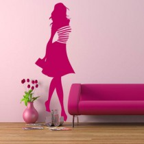 Stickers personnage silhouette fashion