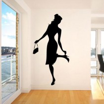 Stickers personnage silhouette fashion 2