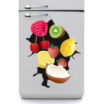Stickers frigo trous fruits