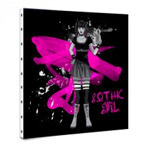 Tableau déco manga gothic girl