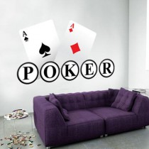 Stickers poker face