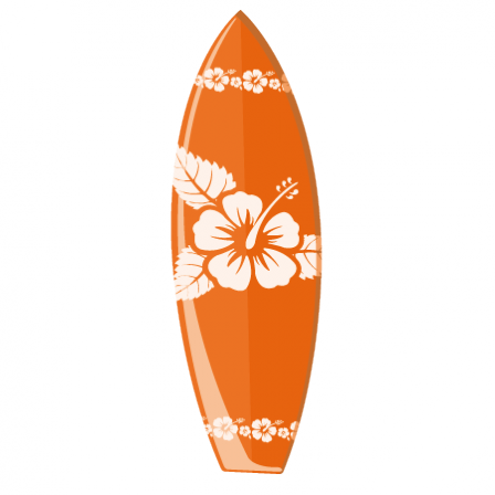 stickers planche de surf orange stickers malin. Black Bedroom Furniture Sets. Home Design Ideas
