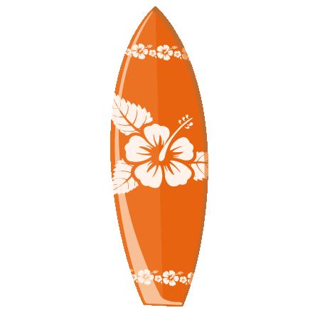 Stickers planche de surf orange stickers malin - Table planche de surf ...