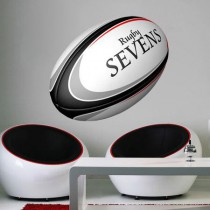 Stickers rugby ballon
