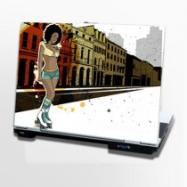 Stickers PC Black Roller Girl