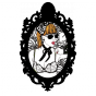 Stickers cadre baroque pin up what time