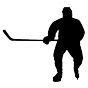 Stickers joueur de hockey 2