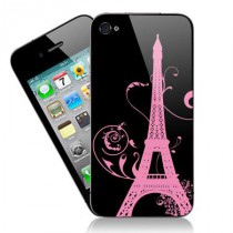 Stickers iPhone tour eiffel floral