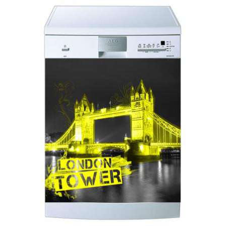 Stickers lave vaisselle london tower