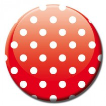Badge fashion points fond rouge