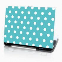 Stickers PC fashion points fond bleu turquoise