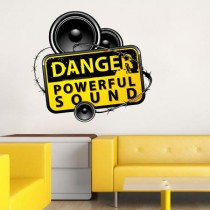 Stickers Danger powerful sound