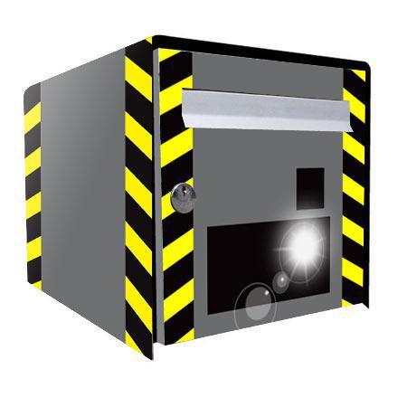 stickers bo te aux lettres radar stickers malin. Black Bedroom Furniture Sets. Home Design Ideas