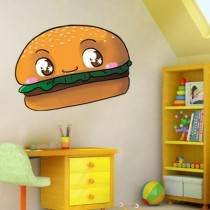 Stickers burger kawaii