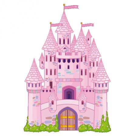 Stickers ch teau princesse stickers malin - Dessiner un chateau de princesse ...