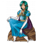 Stickers heroic Fantasy fille elfe assise