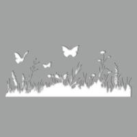 pochoir adh sif herbe et papillon stickers malin. Black Bedroom Furniture Sets. Home Design Ideas