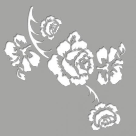 Pochoir adh sif rose baroque stickers malin - Pochoir cuisine a imprimer ...