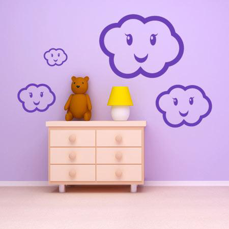stickers nuage kawaii stickers malin. Black Bedroom Furniture Sets. Home Design Ideas