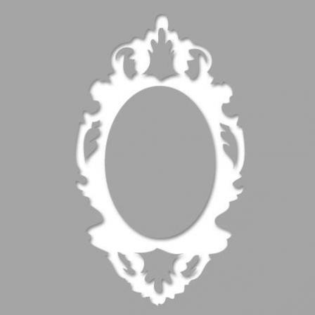 Pochoir adh sif cadre baroque rococo stickers malin for Pochoir pour miroir
