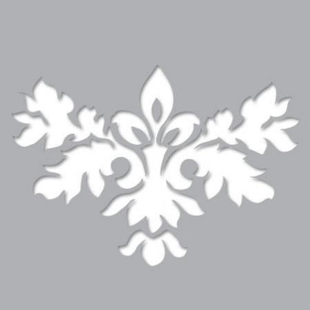 Pochoir adh sif fleur baroque artistique stickers malin for Pochoir pour miroir