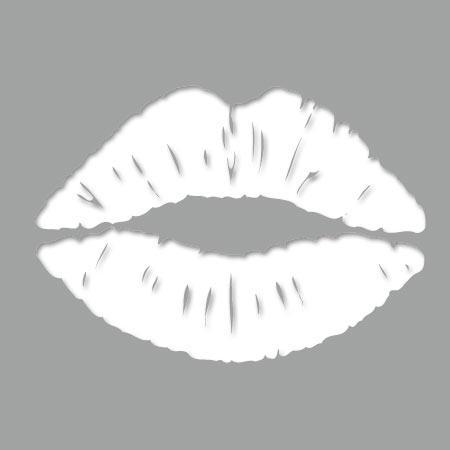 Pochoir adhésif bouche 1 - Stickers Malin