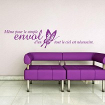 Stickers citation papillon